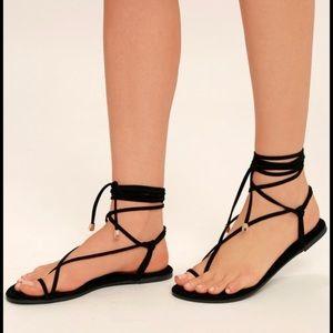 Tan Tie Up Sandles